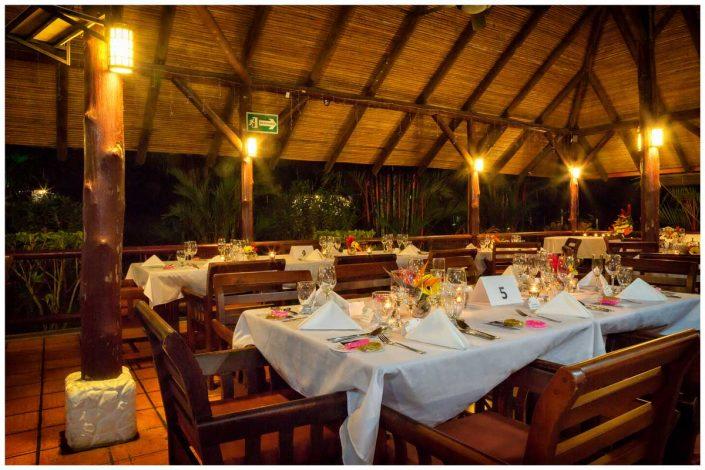 costa rica wedding reception dinner