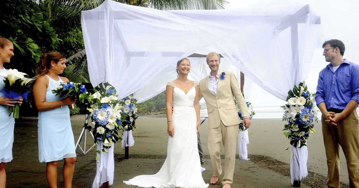 beach wedding package costa rica
